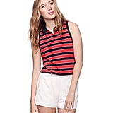 This striped polo has the nostalgic feel of that '70s-cool tennis dress.  Forever 21 Heritage 1981 Striped Sleeveless Polo Shirt ($11)