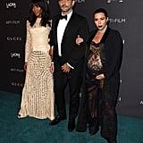Naomi Campbell, Riccardo Tisci, and Kim Kardashian