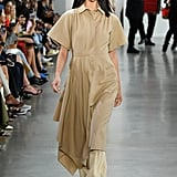 A Shirtdress Over Pants on the Deveaux Runway during New York Fashion Week