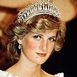 Princess Diana wearing the Cambridge Lover's Knot Tiara in 1983