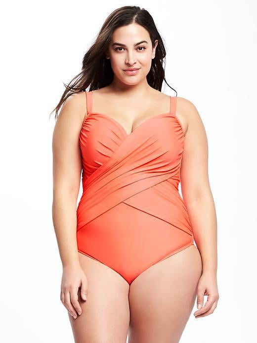0ffd1704210 Old Navy Smooth   Slim Wrap-Front Plus-Size Swimsuit