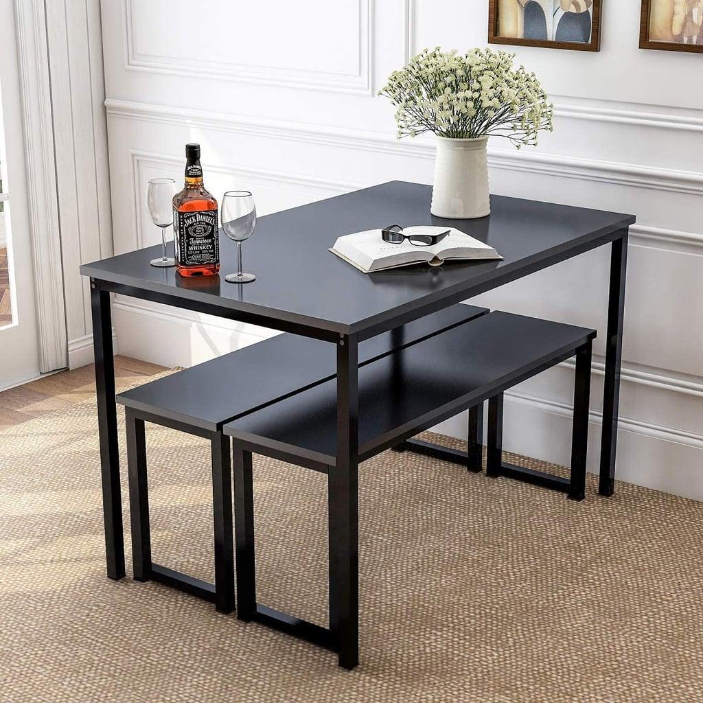 For an Anti-Scratch, Modern Design: Rhomtree 3-Piece Dining Set Table