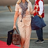 Kate's hairdresser Amanda Cook Tucker was also on the flight in India.