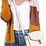 Ecowish Color Block Striped Cardigan