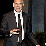 George Clooney did an interview with Lynn Wyatt in Houston.