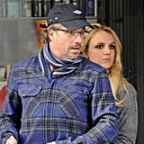 Britney Spears kept close to Jason Trawick.