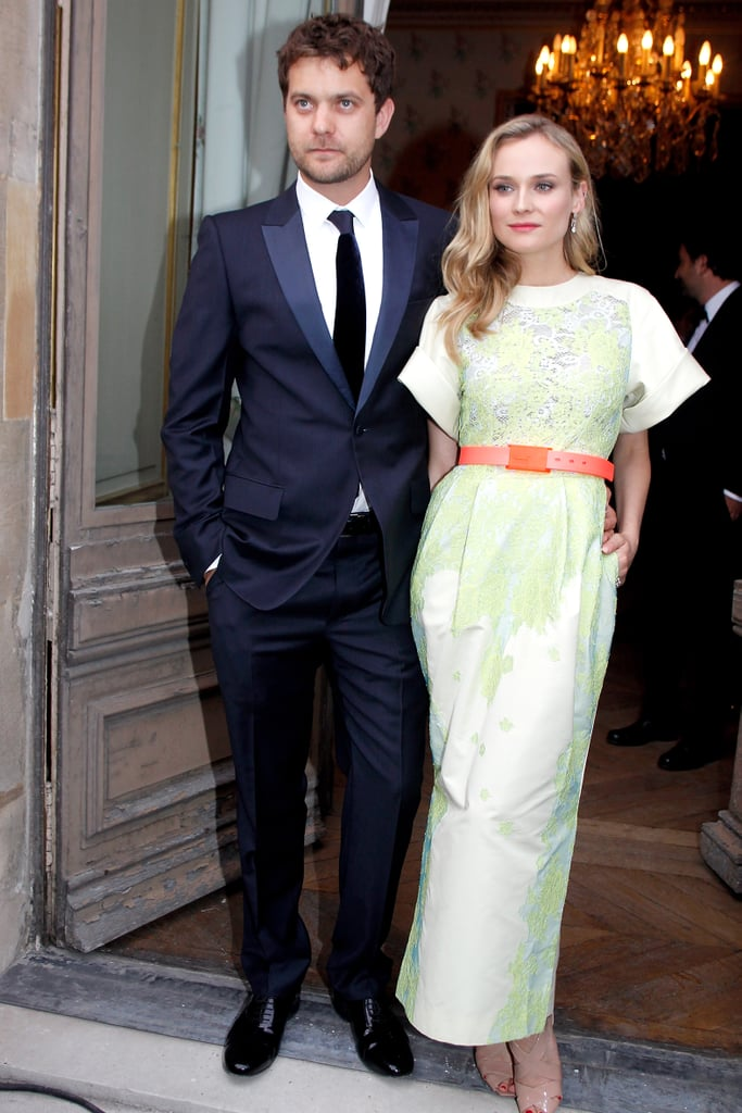Joshua Jackson and Diane Kruger arrived in style for a charity dinner at the Louvre in Paris this evening. Josh wore a dapper tux while Diane stepped out in her latest fashionable look for the event, which closed the museum down early to allow guests to wander the halls. The couple were reunited in France after going their separate ways while Josh started work on Lay the Favorite. He first got in front of the cameras in New Orleans and was later spotted on set in NYC with costar Rebecca Hall. Diane, meanwhile, stayed back in LA following the duo's appearance at a beachside bash over Memorial Day Weekend. Josh and Diane are just continuing their jet-setting ways since they've also already traveled to Cannes, Turkey, and Mexico this year.