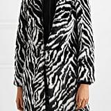 Alice + Olivia Kylie hooded zebra-print faux fur coat