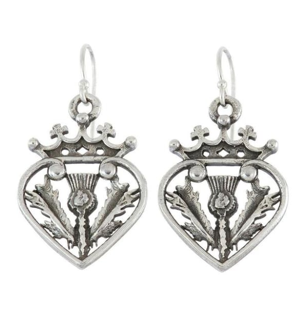 Outlander Luckenbooth Thistle Earrings by RockLove ($80)