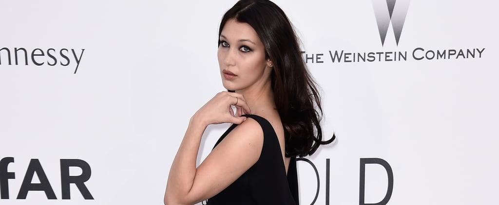 Bella Hadid Wearing Black Dress
