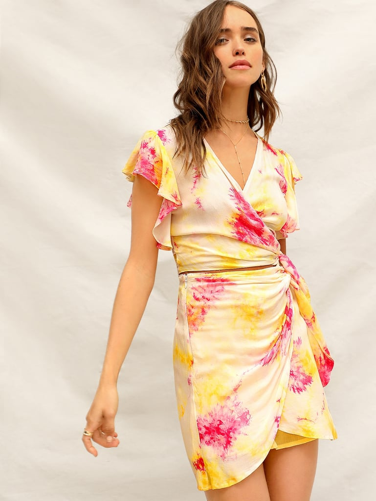 f1b01c1c09 Shein Tie Dye Wrap Knot Waist Crop Top & Skirt Set | How to Wear Tie ...