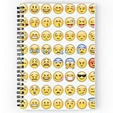 All Faces Emoji Collage Spiral Notebook