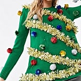 Christmas Tree Light-Up Sweater Dress