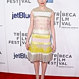 Michelle Williams posed on the red carpet at the Tribeca Film Festival.