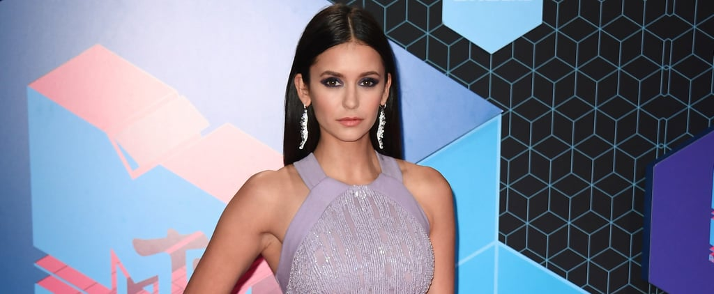 Nina Dobrev Walks the MTV EMA Red Carpet Looking Like Royalty