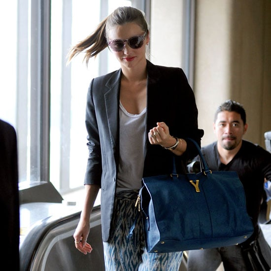 Five Style Tricks to Steal from Miranda Kerr's On The Plane Wardrobe: Nick Her Model Off-Duty, In-Transit MO