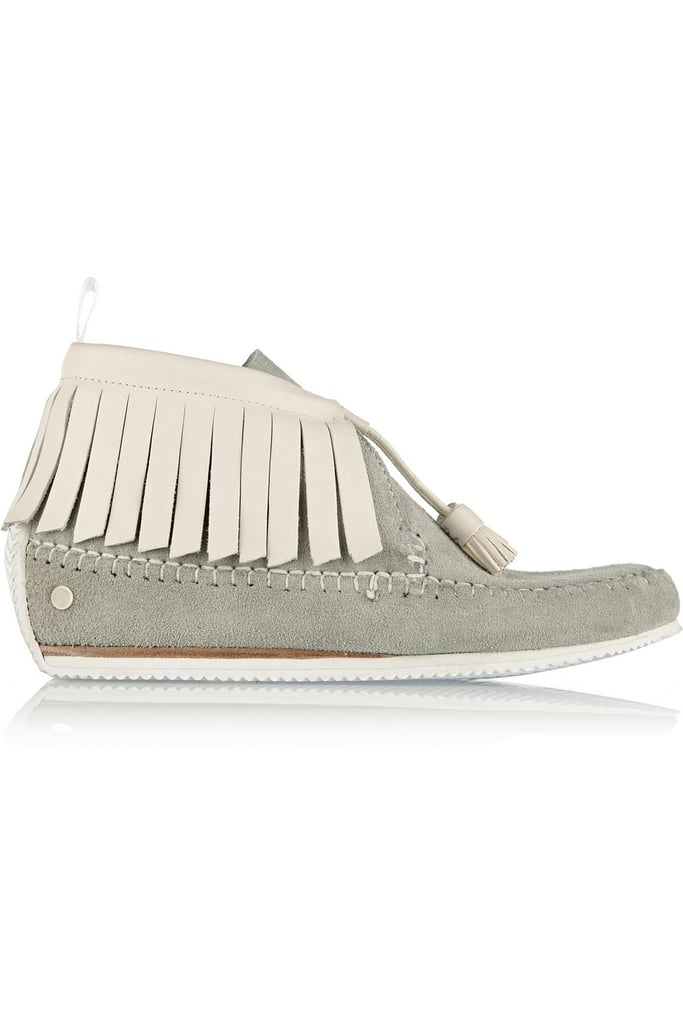 Rag & Bone Ghita Fringed Suede and Leather Moccasins ($395)