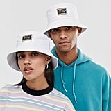 Reclaimed Vintage unisex branded bucket hat in white