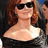 Susan Sarandon kept cool in a pair of Ray-Ban Wayfarers.