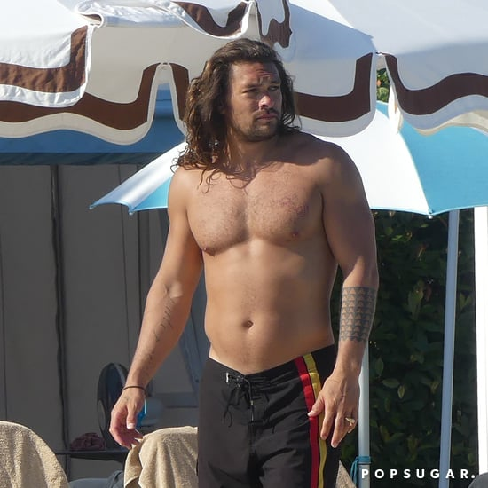 Jason Momoa Shirtless With Lisa Bonet in Venice June 2019
