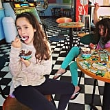 Jagger and Poet Goldberg took a break from fighting (according to their mom, Soleil Moon Frye) for some Ben & Jerry's. Source: Instagram user moonfrye