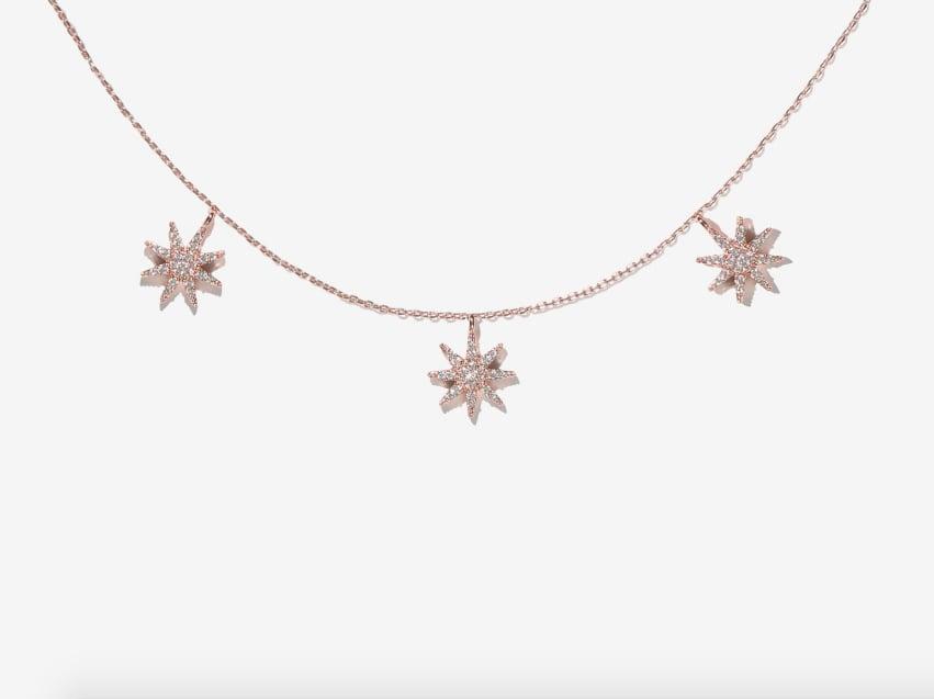 Adornmonde Mason Rose Gold Crystal Star Choker