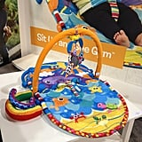 Lamaze's new Sit Up and See Gym has a seat that can be placed on an incline to help younger tots.