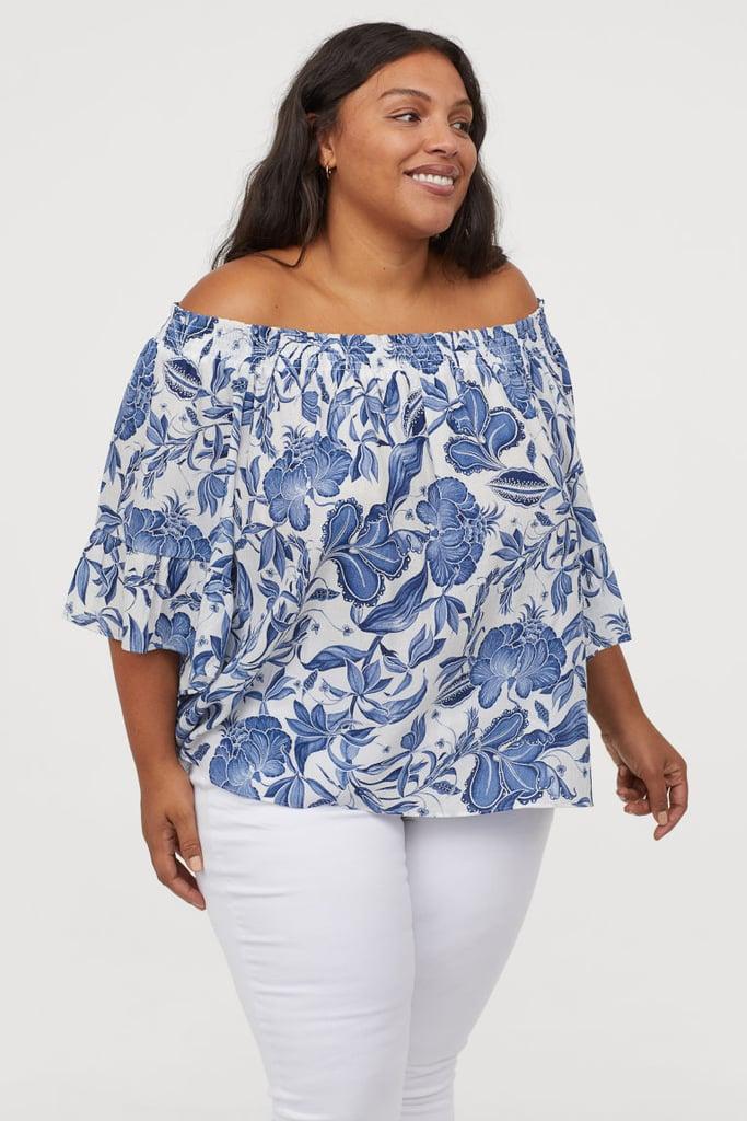 H&M+ Off-the-Shoulder Blouse