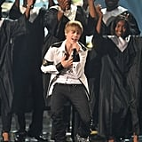 Justin Bieber at the 2010 American Music Awards