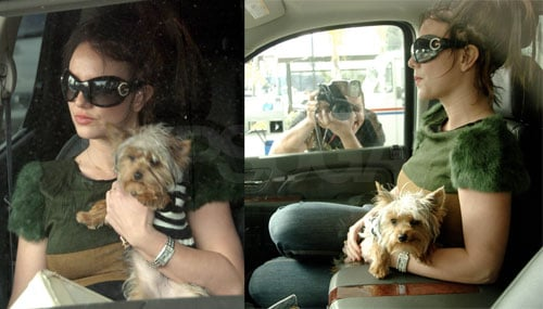 Britney Poses With Her Glasses and Babies