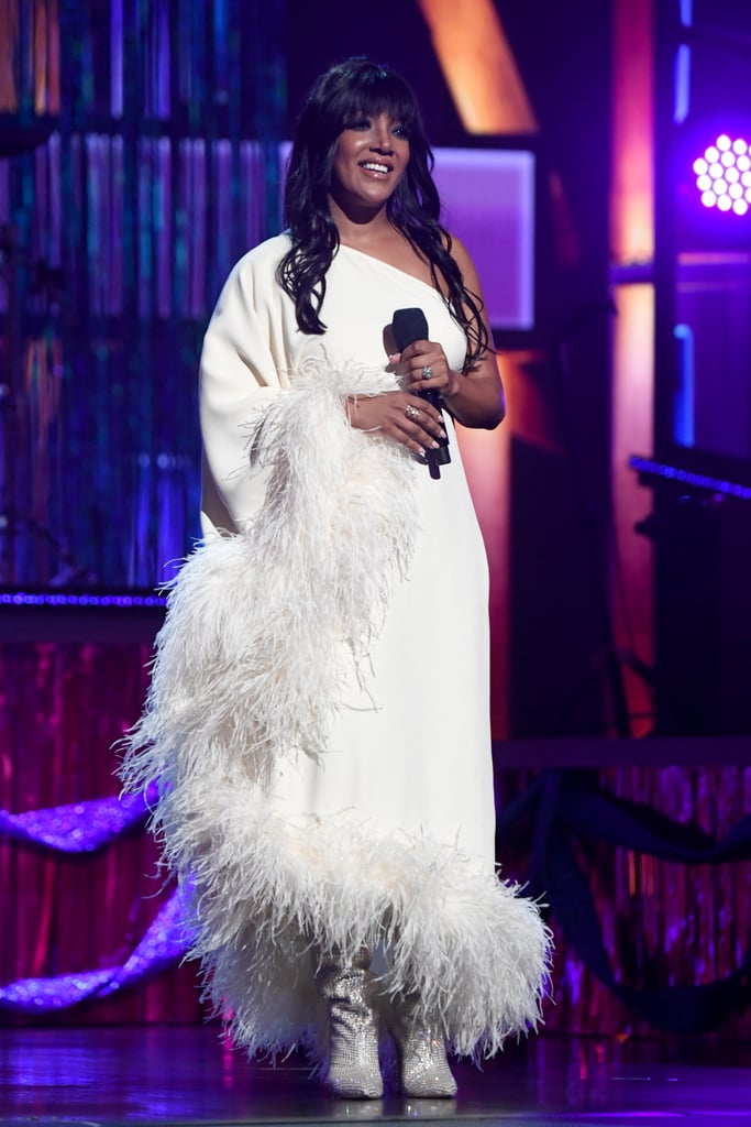 """Mickey Guyton is making history once again! After becoming the first Black woman to ever perform at the ACM Awards last year, the 37-year-old Grammy-nominated singer broke another barrier by becoming the first Black artist to cohost the ceremony alongside Keith Urban. Mickey previously spoke to E! News about the increased inclusivity within the Academy, saying, """"I'm part of the ACM Diversity Task Force . . . We started this in 2019, and they have been relentlessly working on diversifying the awards in front of the camera and behind the scenes. And that is showing up on the awards. And I'm just so excited to be a part of that change.""""  Mickey also received a nomination for new female artist of the year, but unfortunately, she lost out to Gabby Barrett. Keep reading to see more of Mickey's historic night at the ACM Awards."""