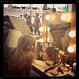 The Vampire Diaries' Kat Graham flashed a look at the camera by her dressing space. Source: Instagram user katgraham