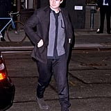 Orlando Bloom walked to meet his wife for dinner.