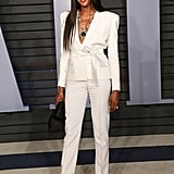 Naomi wore Alexandre Vauthier to the Vanity Fair Oscar party.