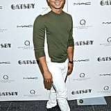 Prabal Gurung made an appearance in crisp white denim and cool kicks.
