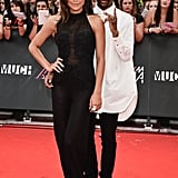 Naya Rivera wore Casadei pumps and had boyfriend Big Sean by her side.