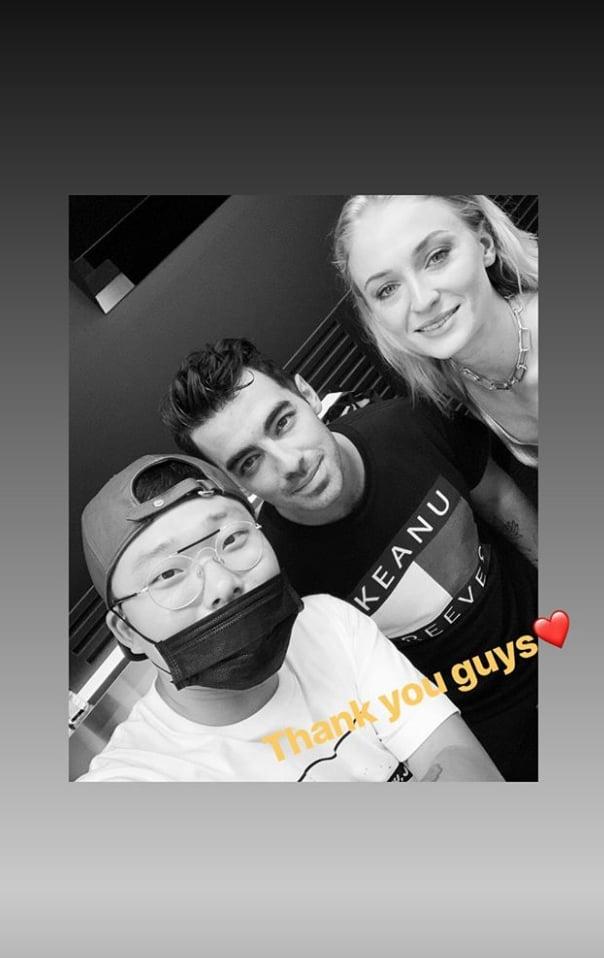 Joe Jonas and Sophie Turner With the Artist at Bang Bang Tattoo