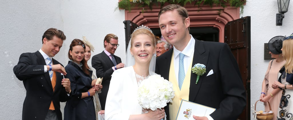 This German Bride's Sheer Wedding Gown Is Royal Approved Thanks to 1 Small Detail
