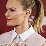 Kate Bosworth wore her hair back in a ponytail for a promotional event for her skin care line in Sydney.