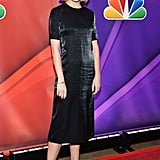 Rachael wore black to attend the NBC Upfronts in NYC in May 2013.