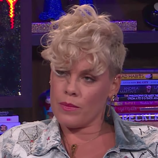 Pink Talks About Christina Aguilera Feud on WWHL 2017