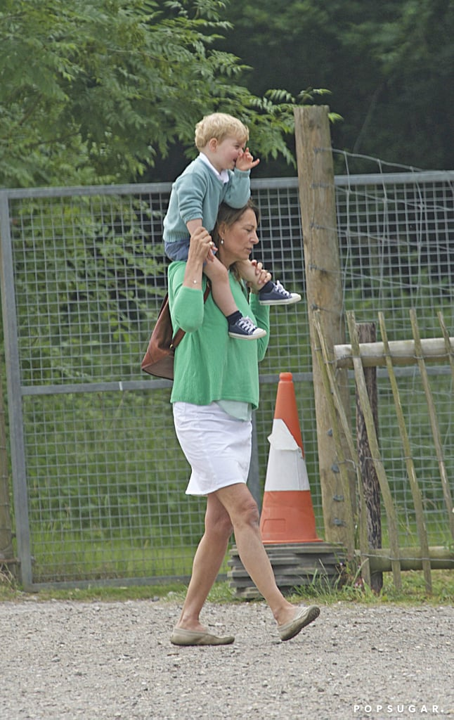 Prince George at Berkshire Petting Zoo With Carole Middleton