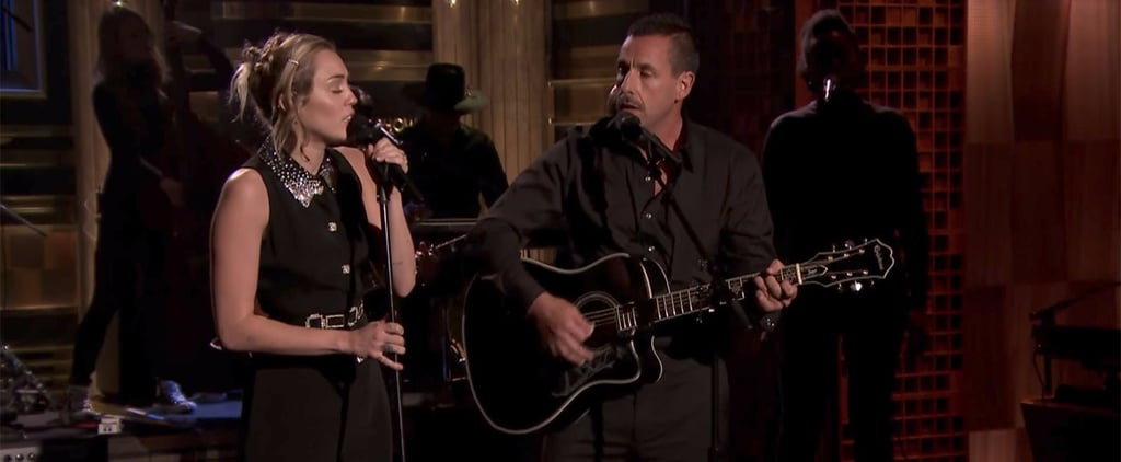 Miley Cyrus and Adam Sandler Perform a Chilling and Beautiful Tribute to Las Vegas Shooting Victims