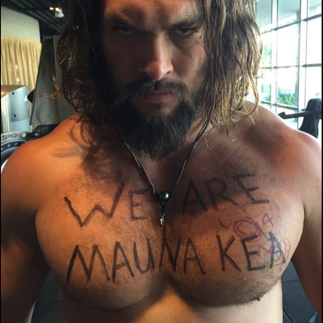 Jason Momoa and More Stars Throw Their Support Behind Mauna Kea
