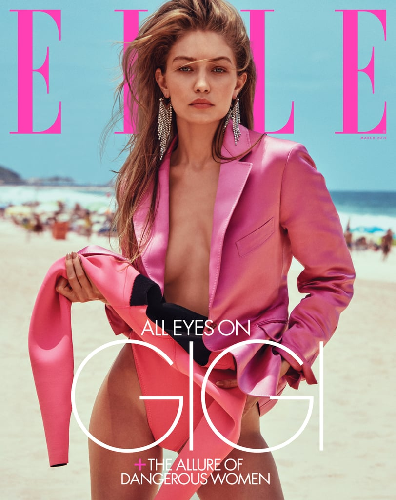 Gigi Stars on the Cover of Elle's March 2019 Issue