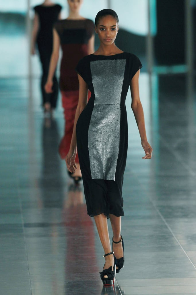 Jonathan Saunders: Because while he did wonders with colorblocking and geometric prints, there was also this one simple, perfect dress, on Jourdan Dunn.