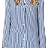 Michael Kors Ticking Stripe Silk-Georgette Shirt ($995)