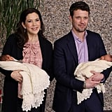 Mary and Frederik showed off their newborn twins, Josephine and Vincent, at Rigshospitalet in Denmark in Jan. 2011.
