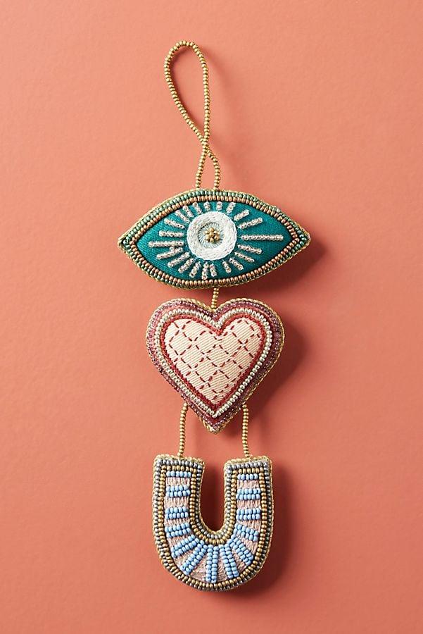 Eye Love You Beaded Ornament