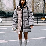 Winter Outfit Idea: A Really Big Jacket and Cool Sneakers